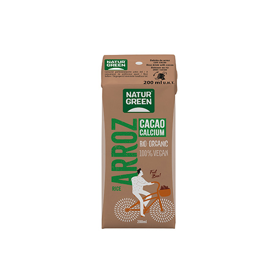 Naturgreen Bebida Arroz Chocolate Calcio Bio 200 ml