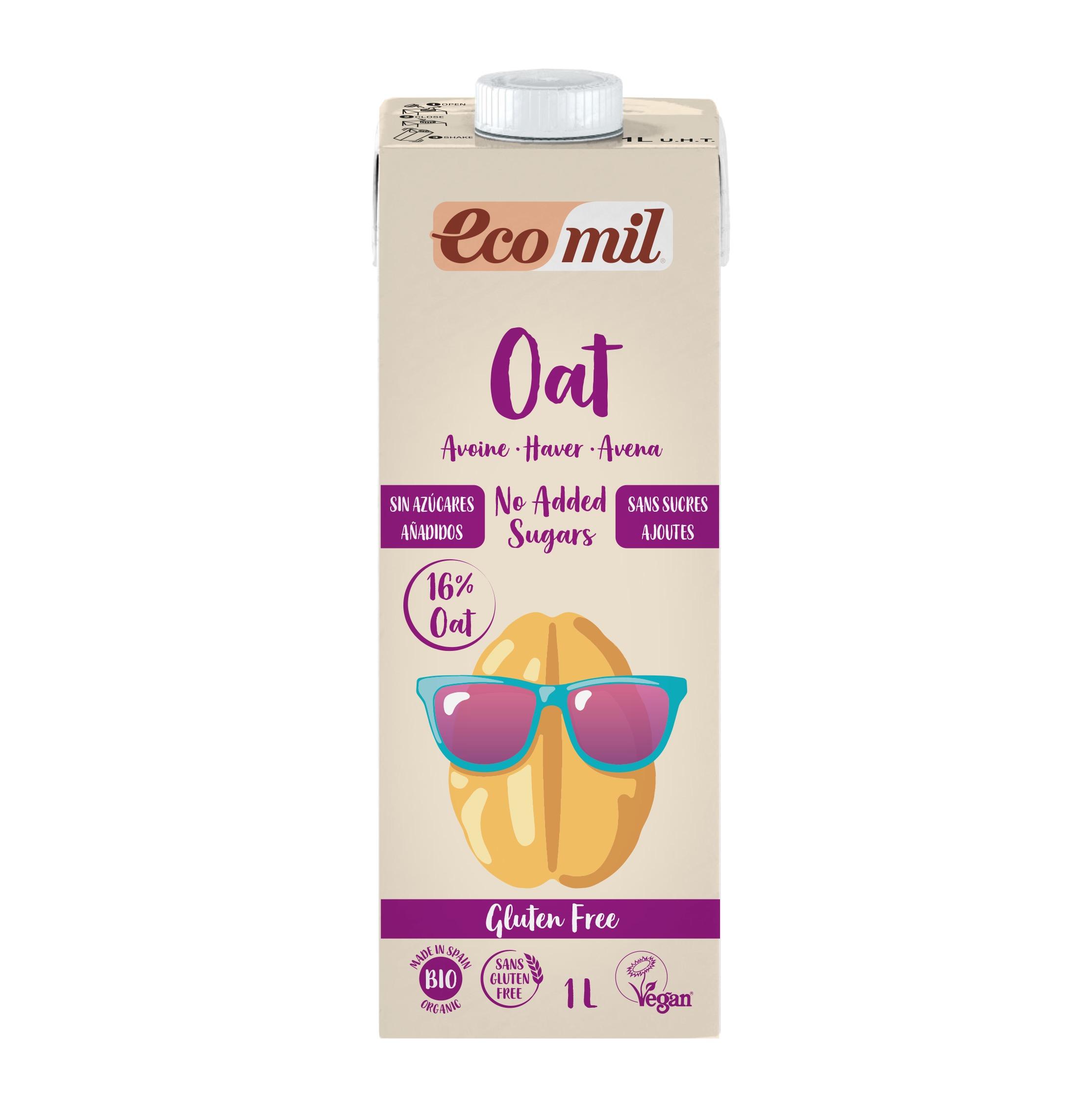 Ecomil Bebida Avena Nature Sin Gluten Bio 1 lt