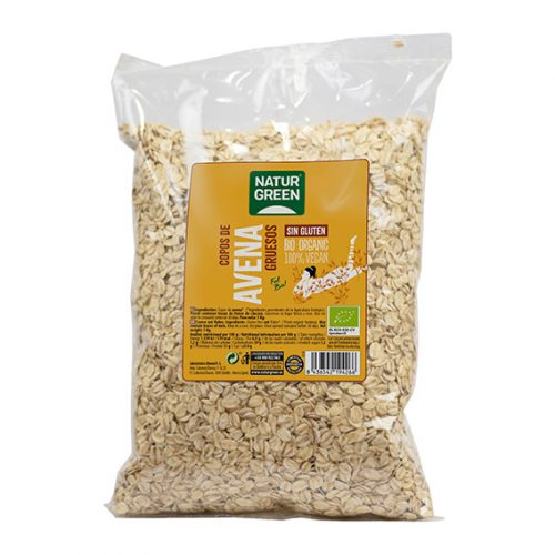 Naturgreen Copos de Avena Gruesos S/Gluten Bio 1000gr