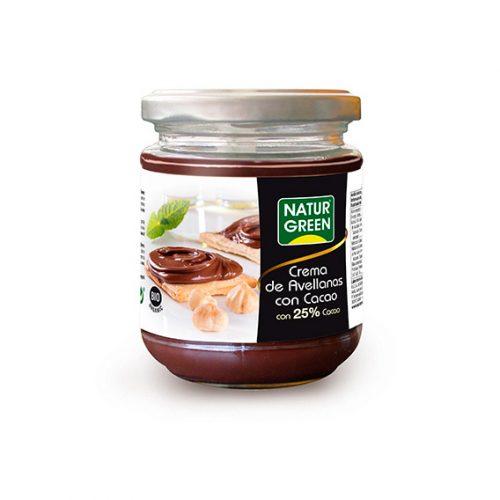 Naturgreen Crema Avellanas 25% de Chocolate Bio 200 gr