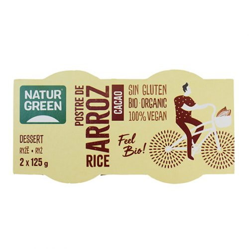 Naturgreen Postre Arroz Chocolate Bio 2 x 125 gr