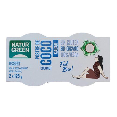 Naturgreen Postre Coco Cacao Bio 2 x 125 gr