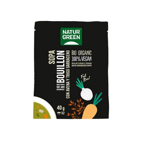 Naturgreen Sopa Bouillon Avena y Trigo Sarrac. Bio 6 x 40 gr