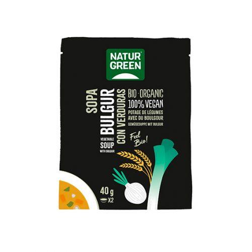 Naturgreen Sopa de Bulgur Verduras Bio 6 x 40 gr