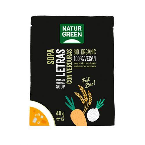 Naturgreen Sopa Letras con Verduras Bio 6x40 gr