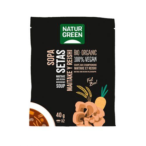 Naturgreen sopa setas maitake & reishi Bio 6 x 40 gr