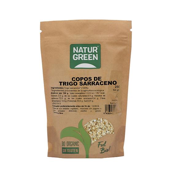 Naturgreen Copos de Trigo Sarraceno 250 gr s/gluten Bio