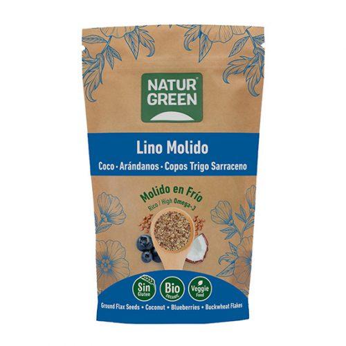 Naturgreen Lino Marrón Molido, trigo sarraceno coco y arandano azul BIO 225 gr