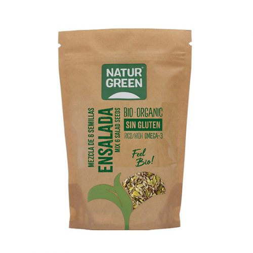 Naturgreen Mezcla 6 Semillas Ensalada Bio 225 gr.