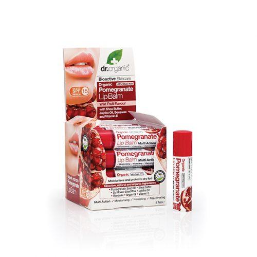 Balsamo Labial de Granada Organica (SPF 15) 16X5,7 ml.