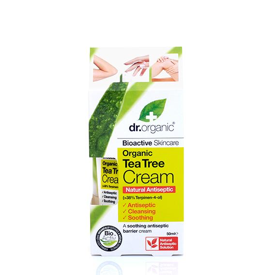 Crema Antiseptica de Arbol de Te Organico 50 ml.