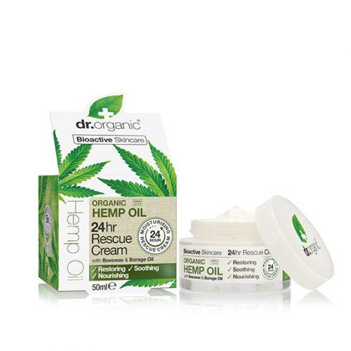Crema Rescate 24 h de Aceite de Cañamo Organico 50 ml.