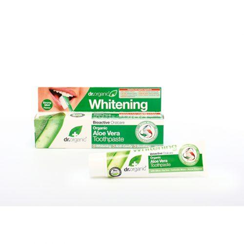 Dentifrico Dientes Blancos de Aloe Vera Organica 100 ml.