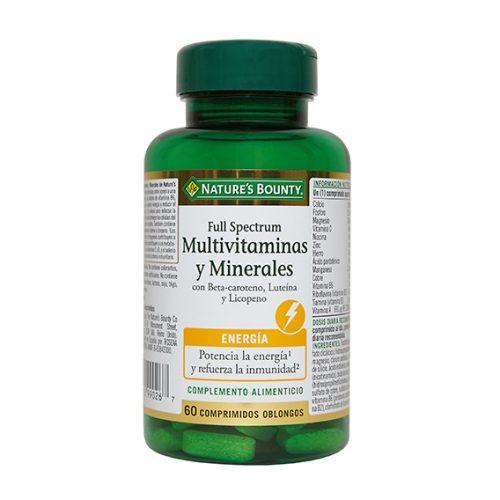 Full Spectrum Multivitaminas y Minerales 60 Comprimidos