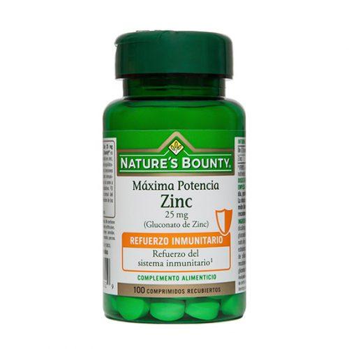 Zinc 25 mg. 100 Comprimidos