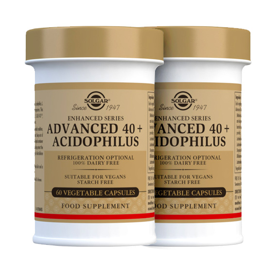 40 + Acidophilus Avanzado 120 Cápsulas Vegetales