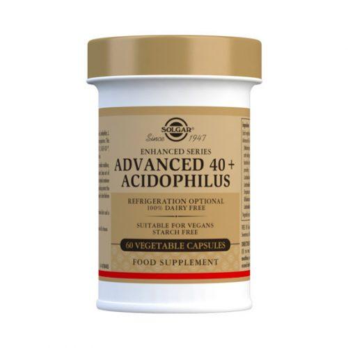 40 + Acidophilus Avanzado 60 Cápsulas Vegetales