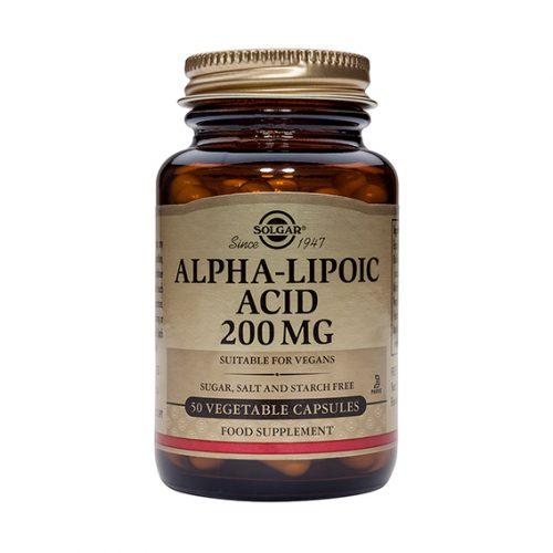 Ácido Alfa Lipoico 200 mg Vegicaps 50