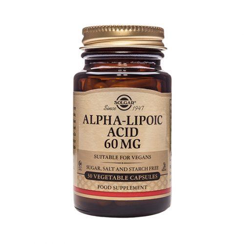 Ácido Alfa Lipoico 60 mg Vegicaps 30