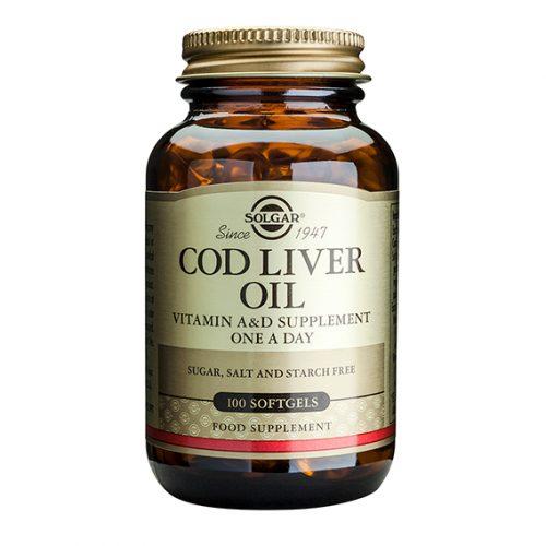 Aceite de Hígado de Bacalao 100 Cápsulas Gelatina Blanda