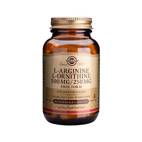 L-Arginina / L-Ornitina 500/250 mg Vegicaps 50