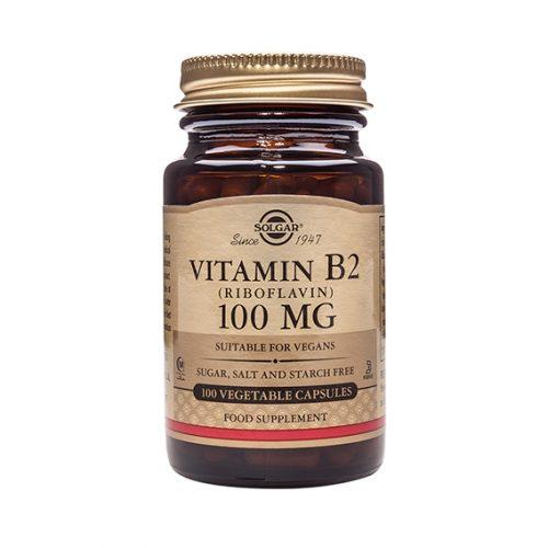 Vitamina B2 100 mg (Riboflavina) Cáps. 100