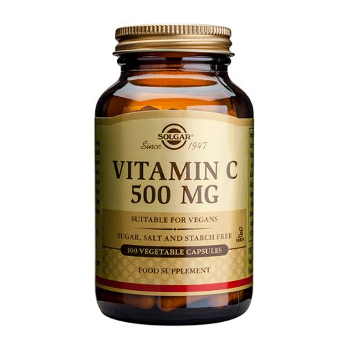 Vitamina C 500 mg 100 Cápsulas Vegetales