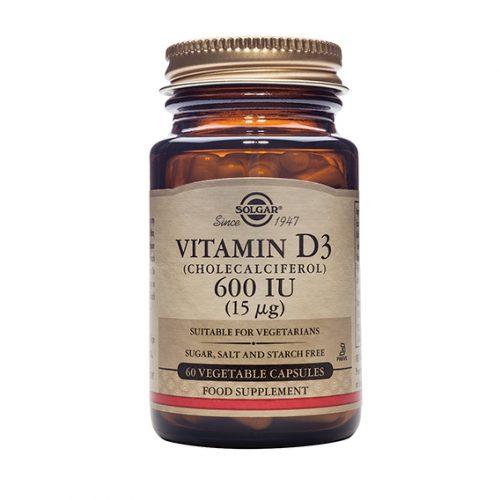 Vitamina D3 600 UI 60 Cápsulas Vegetales