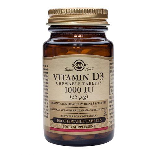Vitamina D3 1000 UI 25 mcg 100 Comprimidos Masticables