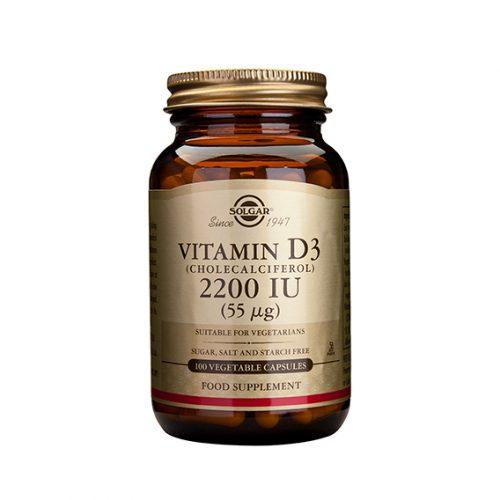 Vitamina D3 Colecalciferol 2200 UI 55 ug 100 Cápsulas Vegetales
