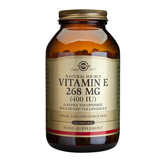 Vitamina E 400 U.I. 268 mg 250 Cápsulas Blandas