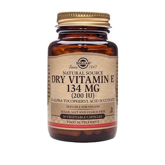 Vitamina E (Seca) 200 U.I. 134 mg 50 Cápsulas Vegetales