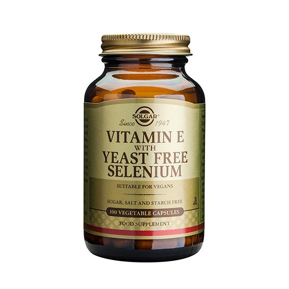 Vitamina E con Selenio 100 Cápsulas Vegetales
