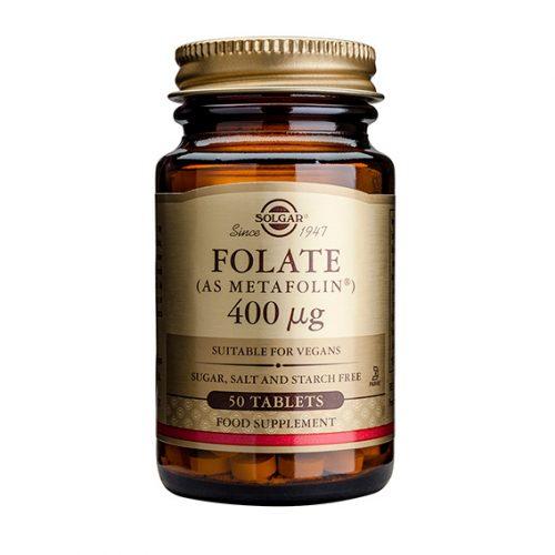 Folato (Metafolin) 400 mcg 50 Cáp. Gel. Blanda