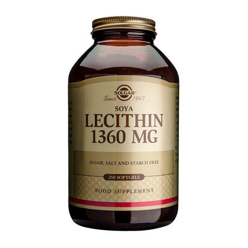 Lecitina de Soja 1.360 mg 250 Cápsulas Gelatina Blanda