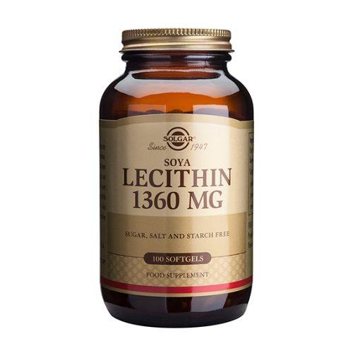 Lecitina de Soja 1.360 mg 100 Cápsulas Gelatina Blanda