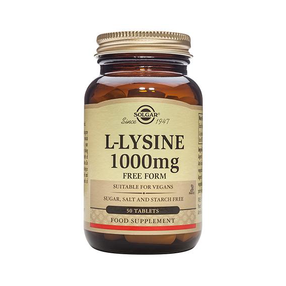 L-Lisina 1.000 mg 50 Comprimidos