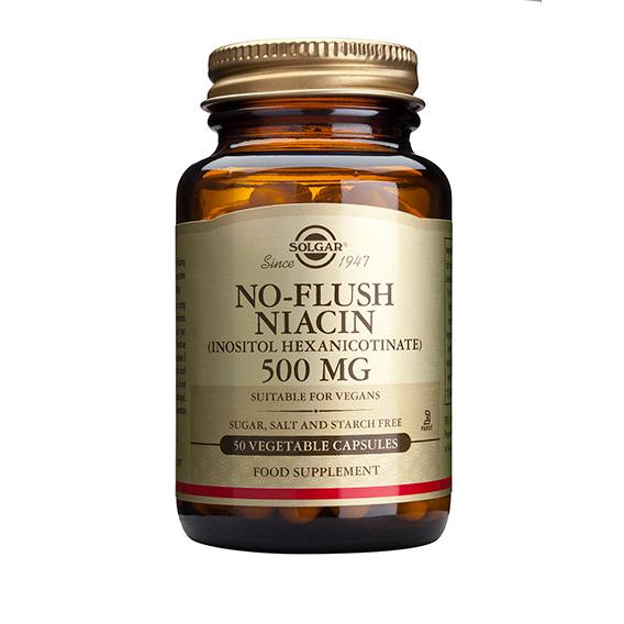 Niacina no Ruborizante 500 mg Cáps.Vegetales 50