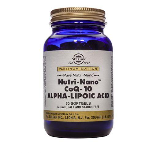 Nutri Nano CoQ10 con Ácido Alfa Lipóico 60 Cápsulas
