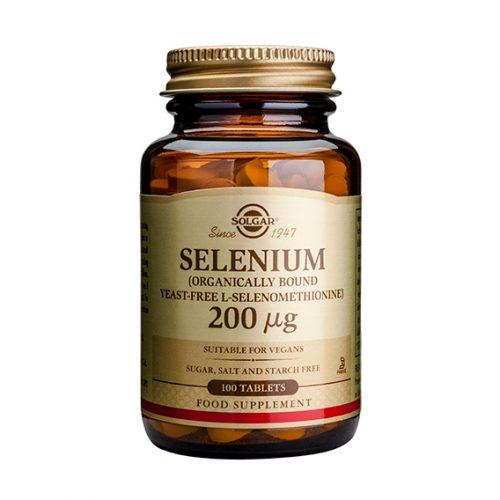 Selenio 200 mg (Sin Levadura) Comprimidos 100