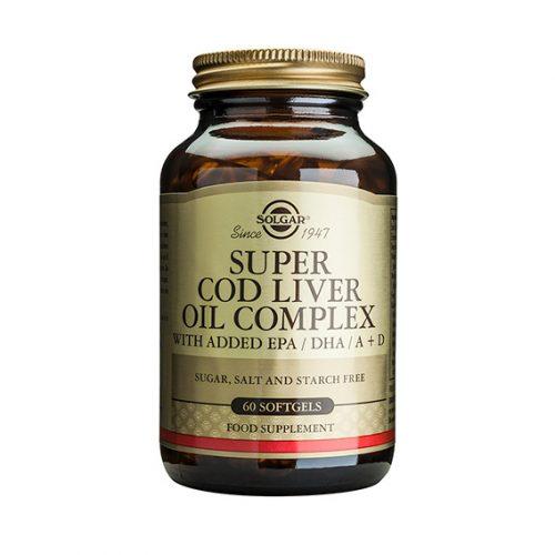 Super Cod Liver Oil Complex 60 Cápsulas Blandas (Aceite de Higado de Bacalao)