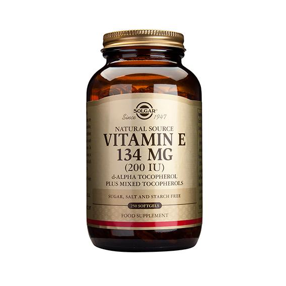 Vitamina E 200 U.I. 134 mg 250 Cápsulas Vegetales