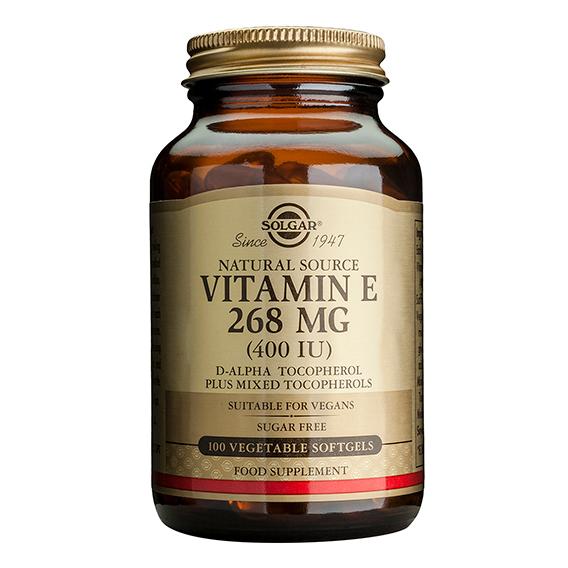 Vitamina E 400 U.I. 268 mg 100 Cápsulas Vegetales