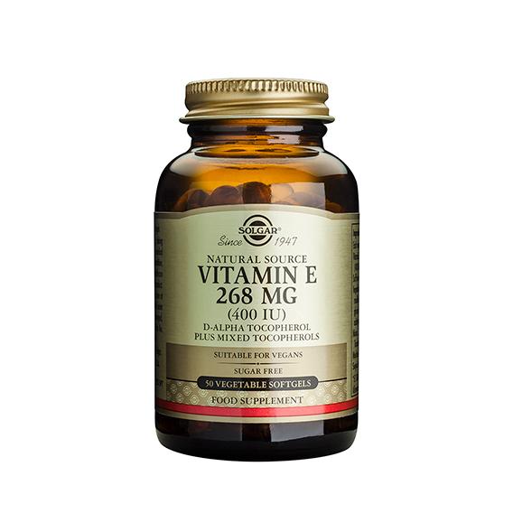 Vitamina E 400 U.I. 268 mg 50 Cápsulas Vegetales