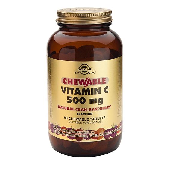 Vitamina C 500 mg Masticables Sabor Frambuesa 90 Comprimidos