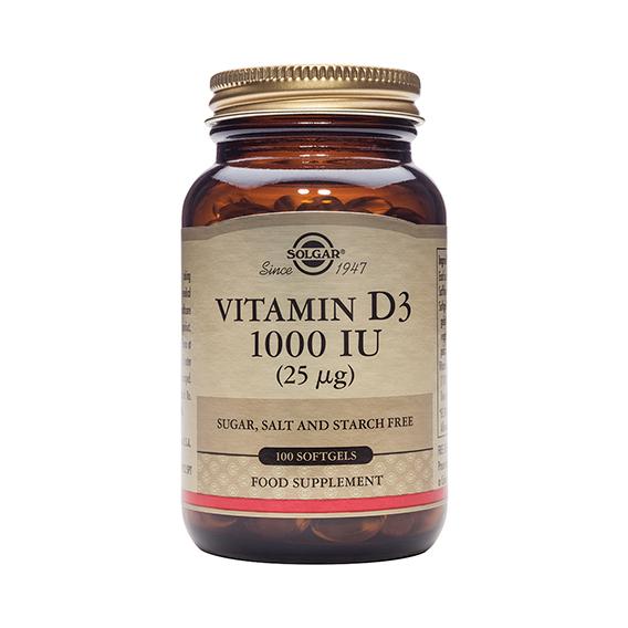 Vitamina D3 1000 UI (25mcg) 100 Cápsulas